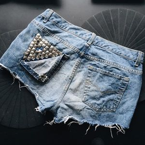 studded shorts from Etsy by No boundaries w32